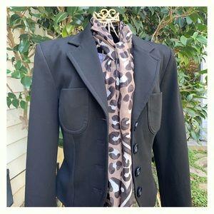 Bebe Black Cropped Blazer